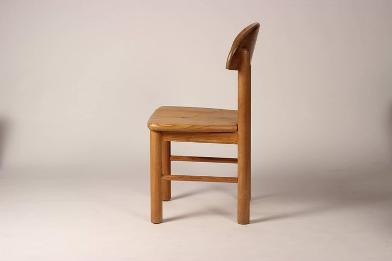 Mid-Century Modern Set of Four Pine Danish Chairs by Rainer Daumiller For Sale 6
