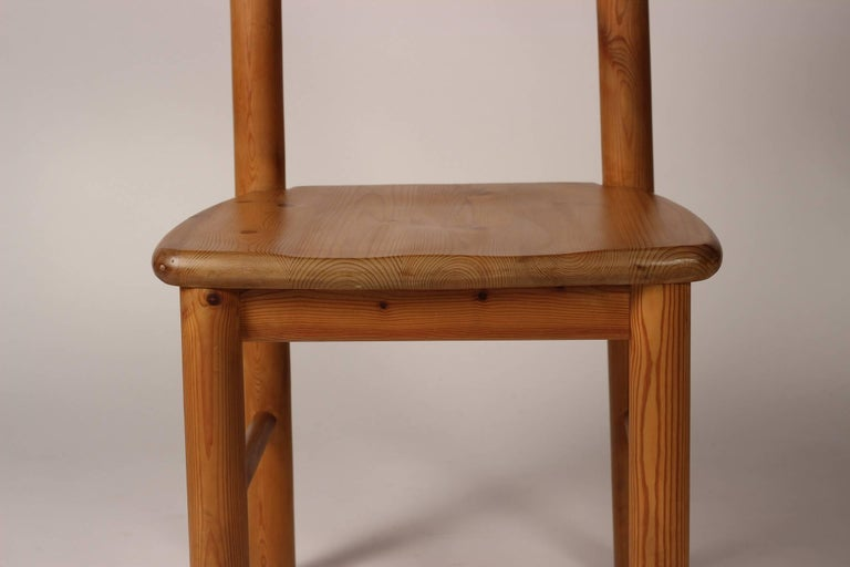 Mid-Century Modern Set of Four Pine Danish Chairs by Rainer Daumiller For Sale 7