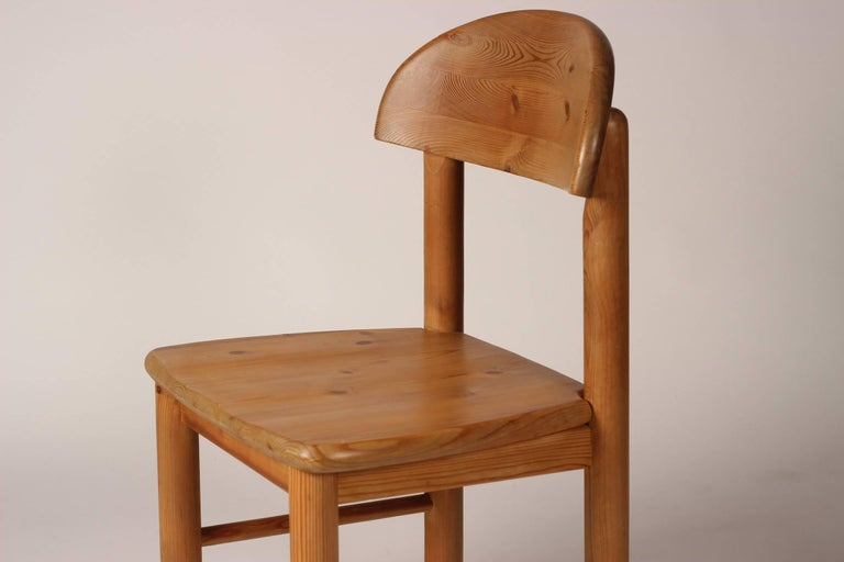 Mid-Century Modern Set of Four Pine Danish Chairs by Rainer Daumiller For Sale 8