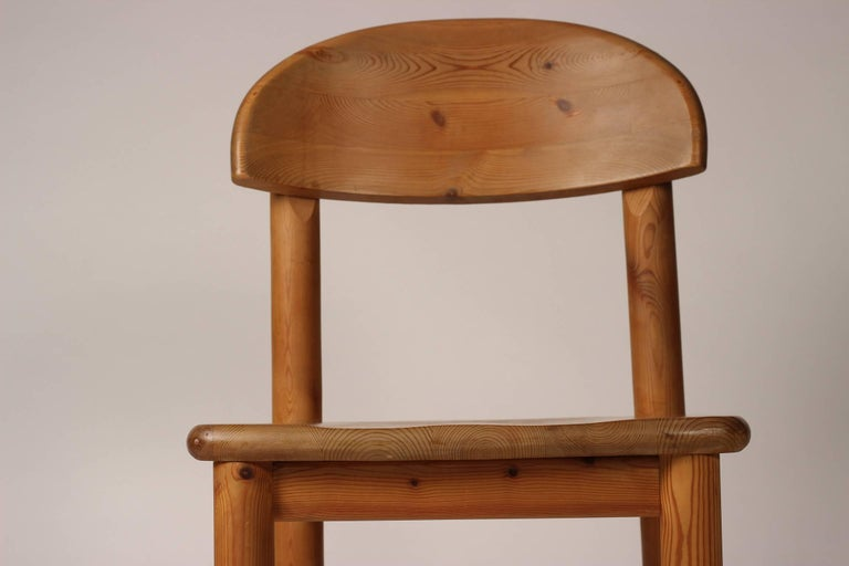 Mid-Century Modern Set of Four Pine Danish Chairs by Rainer Daumiller For Sale 11