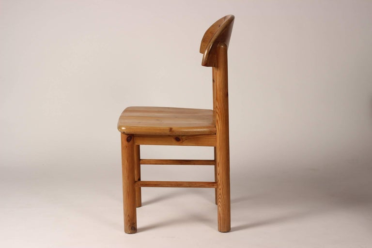 Late 20th Century Mid-Century Modern Set of Four Pine Danish Chairs by Rainer Daumiller For Sale