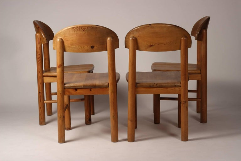 Mid-Century Modern Set of Four Pine Danish Chairs by Rainer Daumiller For Sale 1