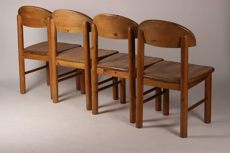 Mid-Century Modern Set of Four Pine Danish Chairs by Rainer Daumiller For Sale 2