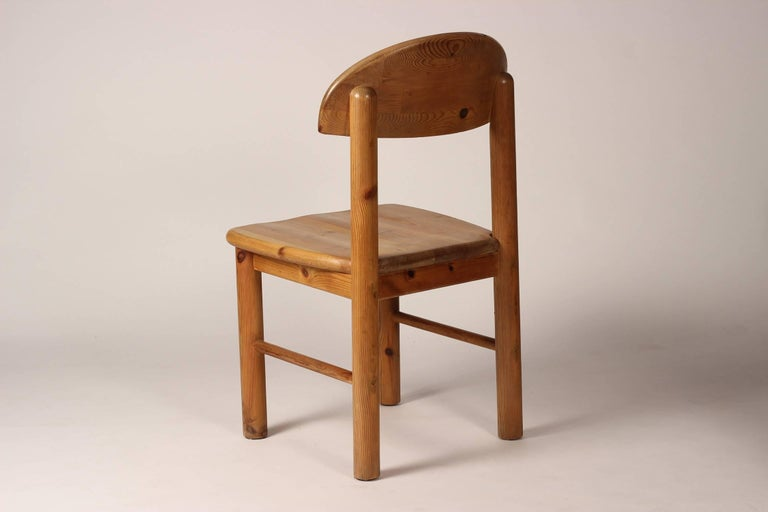 Mid-Century Modern Set of Four Pine Danish Chairs by Rainer Daumiller For Sale 3