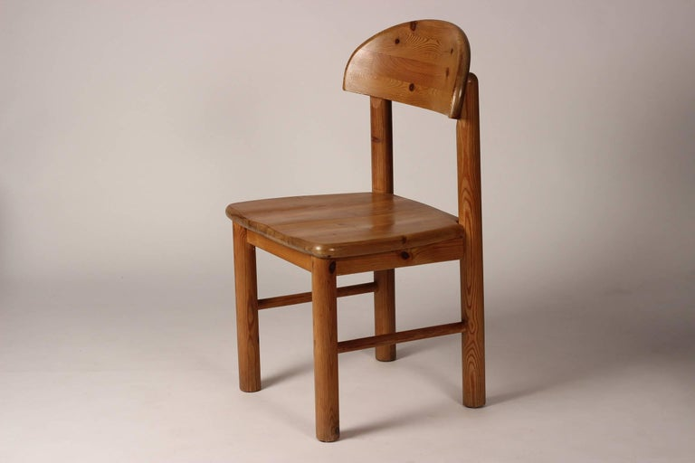 Mid-Century Modern Set of Four Pine Danish Chairs by Rainer Daumiller For Sale 4