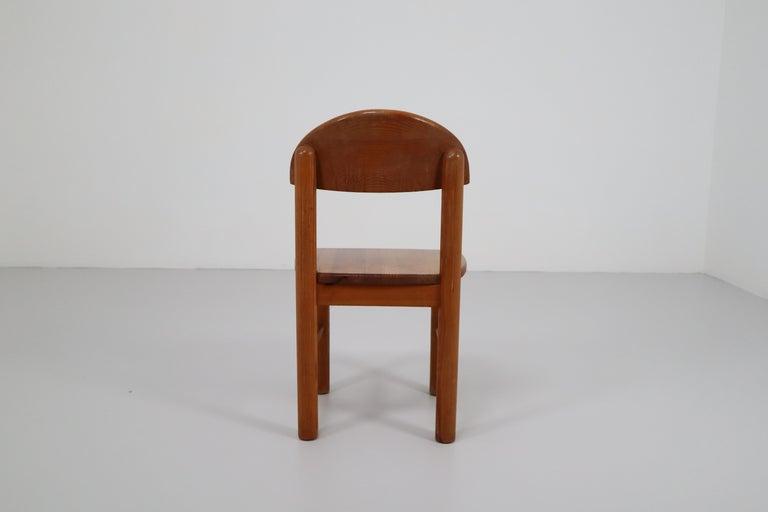 Scandinavian Modern Mid-Century Modern Set of Six Pine Danish Chairs by Rainer Daumiller, 1970s For Sale
