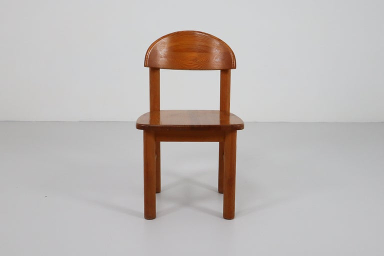 Mid-Century Modern Set of Six Pine Danish Chairs by Rainer Daumiller, 1970s In Good Condition For Sale In Almelo, NL