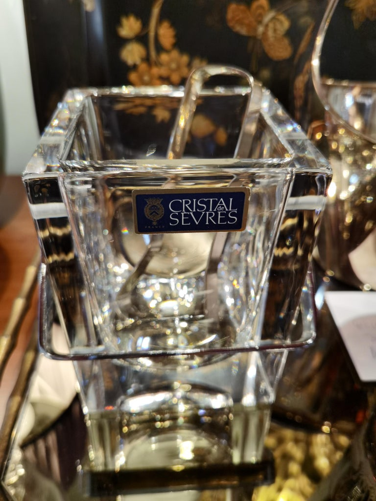 Mid-Century Modern Sevres Ice Cube Bucket Crystal In Excellent Condition For Sale In Kitzbuhel, AT