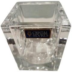 Mid-Century Modern Sevres Ice Cube Bucket Crystal