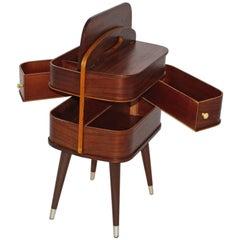 Mid Century Modern Vintage Wood Commode Storage Chest circa 1960 Denmark Teak