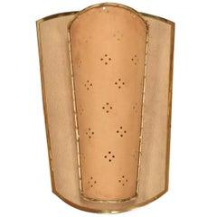 Mid-Century Modern Shield Sconce, Italian Modernist