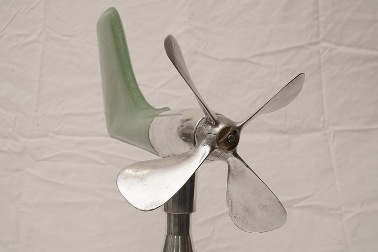 Industrial Mid-Century Modern Ship's Aerovane and Anemometer For Sale