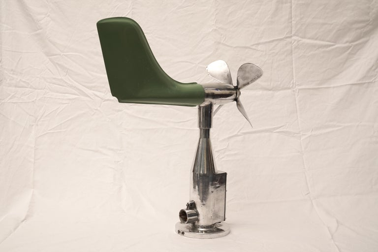 Mid-Century Modern Ship's Aerovane and Anemometer In Good Condition For Sale In Nantucket, MA