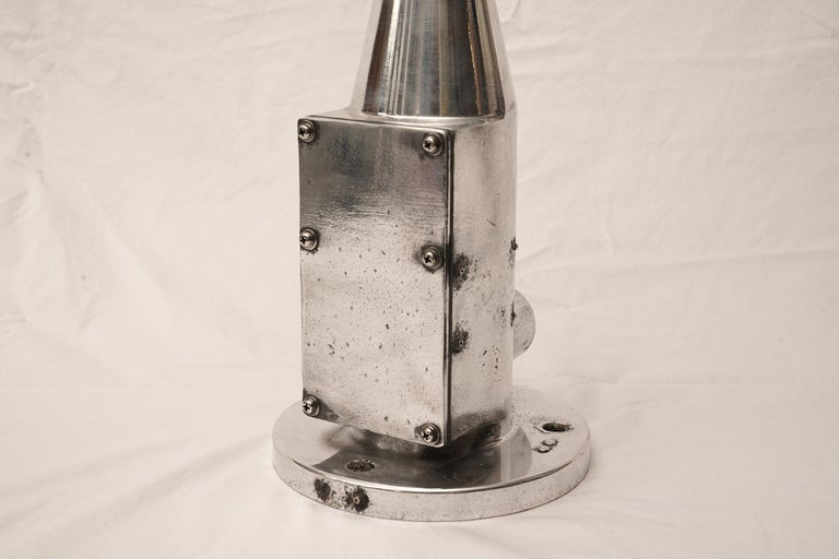 Chrome Mid-Century Modern Ship's Aerovane and Anemometer For Sale