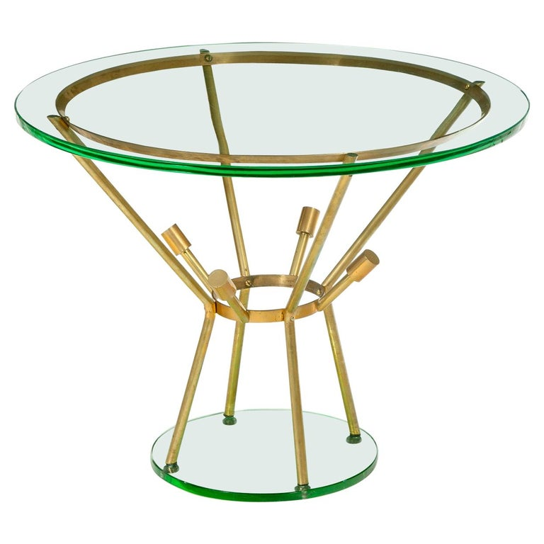 Mid-Century Modern Side Table Attributed to Fontana Arte For Sale