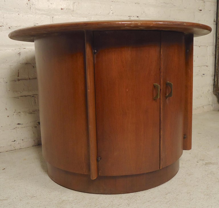 Round table with storage. Great for home or office. (Please confirm item location - NY or NJ - with dealer).
