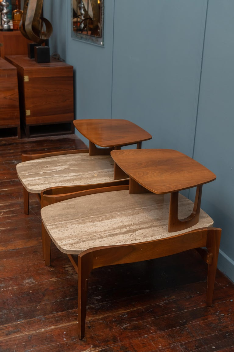 Mid-20th Century Mid-Century Modern Side Tables by Bertha Schaefer For Sale
