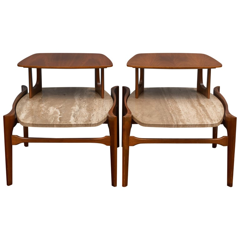 Mid-Century Modern Side Tables by Bertha Schaefer For Sale