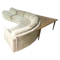 Mid-Century Modern Signed Adrian Pearsall Curved Serpentine Sectional Sofa
