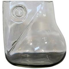 Mid-Century Modern Signed Alfredo Barbini Murano Glass Art Vase Pitcher, Italy