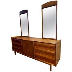 Mid-Century Modern Signed Lane Altavista Large Chest Dresser with Dual Mirrors