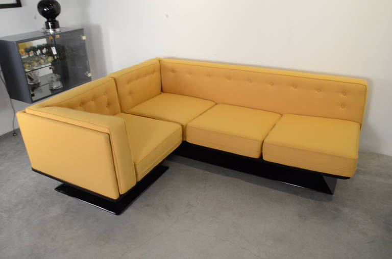 Mid-Century Modern Signed Luigi Pellegrin, MIM Roma, Ico Parisi Sectional Sofa For Sale 5