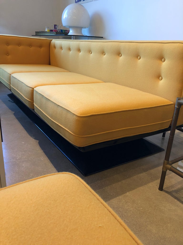 Mid-Century Modern Signed Luigi Pellegrin, MIM Roma, Ico Parisi Sectional Sofa For Sale 2