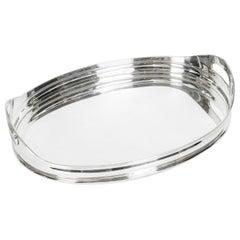 Mid-Century Modern Silver Plate Barware Tray