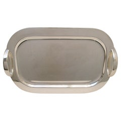 Mid-Century Modern Silver Plated Tray by Lino Sabatini