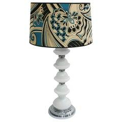 Mid-Century Modern Single Murano and Metal Italian Table Lamp