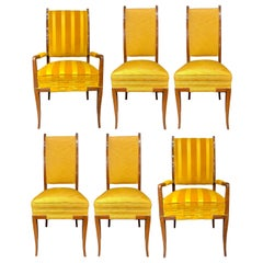 Mid-Century Modern Six Tommi Parzinger Dining Chairs, Originals