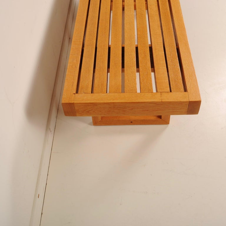 Mid-Century Modern Slat Bench For Sale 2