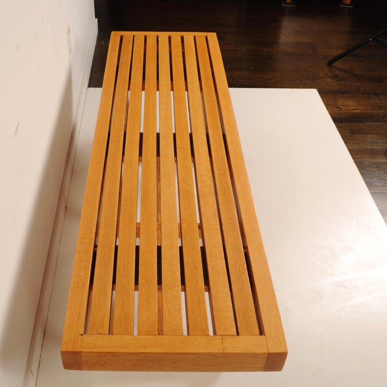 Mid-Century Modern Slat Bench For Sale 3