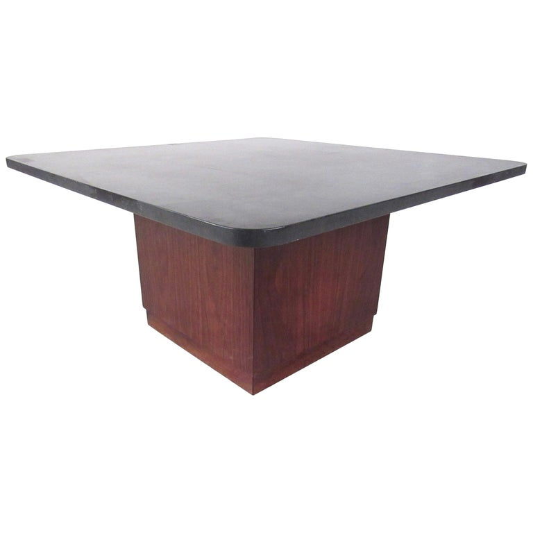 Mid-Century Modern Slate Top Coffee Table For Sale At 1stdibs