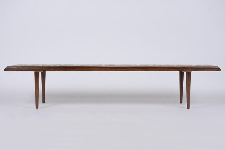 Mid-20th Century Mid-Century Modern Slatted Bench, circa 1960s For Sale