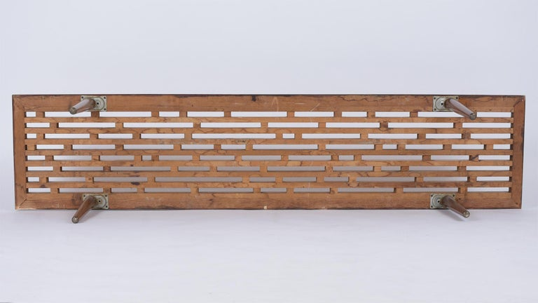 Mid-Century Modern Slatted Bench, circa 1960s For Sale 2