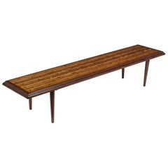 Mid-Century Modern Slatted Bench, circa 1960s