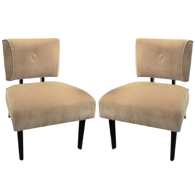 American Mid-Century Modern Slipper Chair For Sale