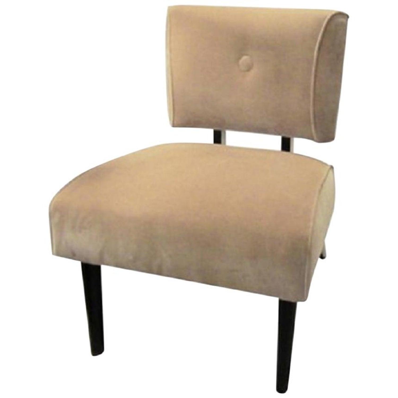 Astounding Mid Century Modern Slipper Chair Theyellowbook Wood Chair Design Ideas Theyellowbookinfo