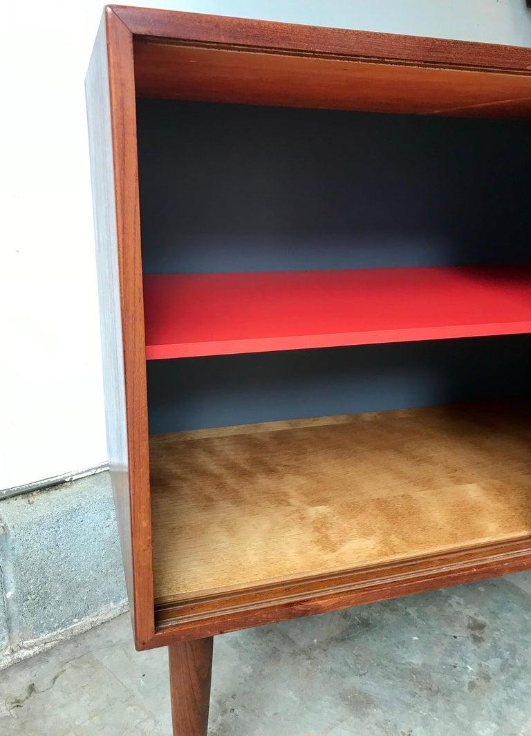 Danish Mid-Century Modern Small Teak Credenza or Storage Cabinet, Denmark, 1960s For Sale