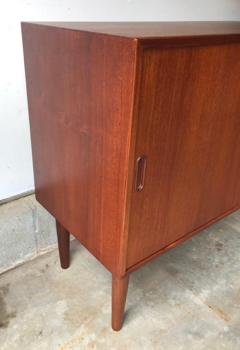 Mid-20th Century Mid-Century Modern Small Teak Credenza or Storage Cabinet, Denmark, 1960s For Sale