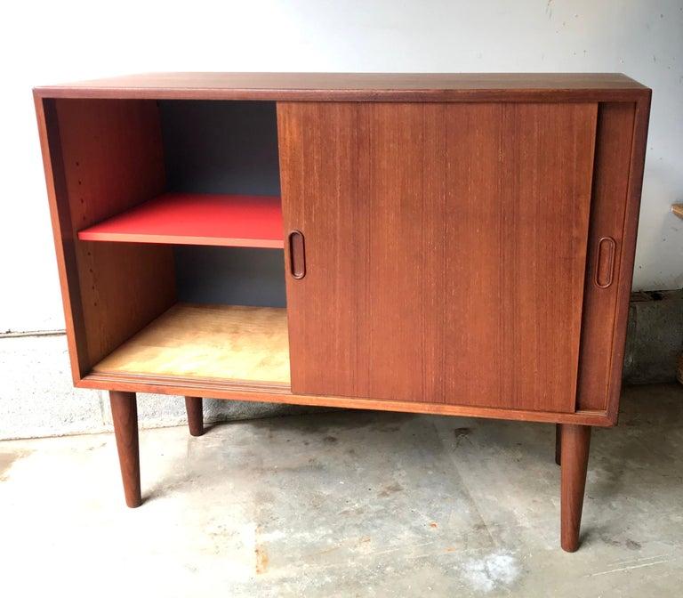 Mid-Century Modern Small Teak Credenza or Storage Cabinet, Denmark, 1960s For Sale 2