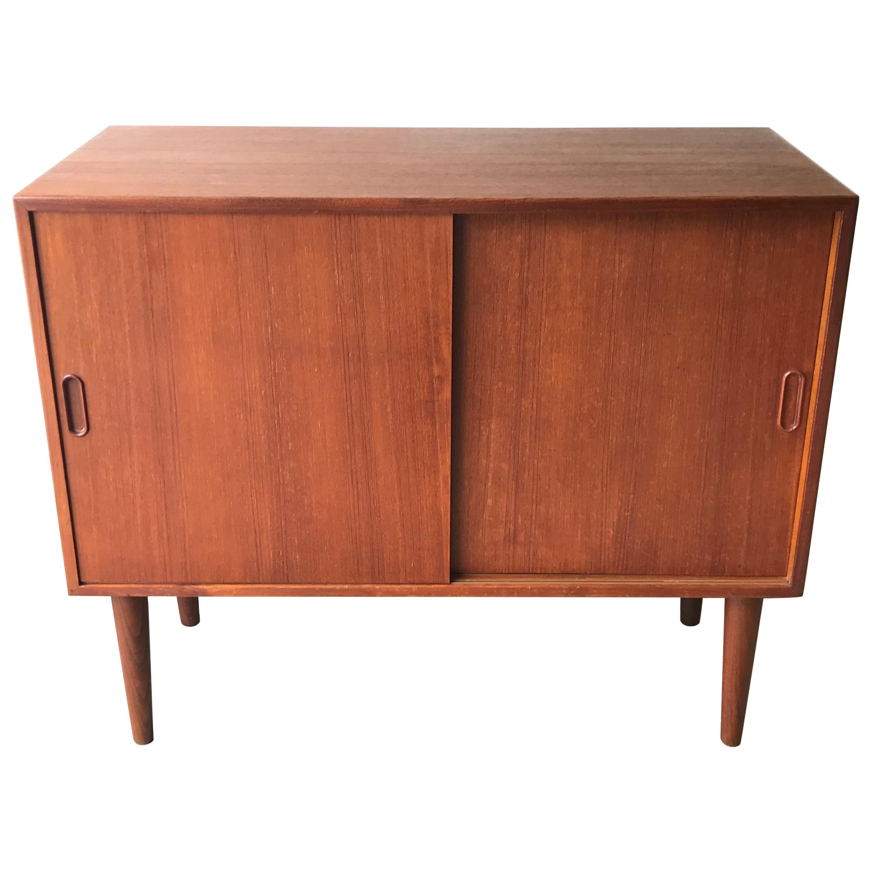 Mid-Century Modern Small Teak Credenza or Storage Cabinet, Denmark, 1960s