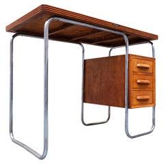Mid-Century Modern Small Wooden Italian Desk by Antonio Ferretti, 1950s
