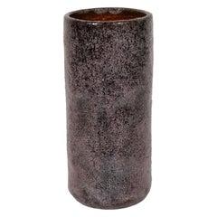 Mid-Century Modern Smoked Lavender Colored Ceramic Vase by Peter Groenveldt