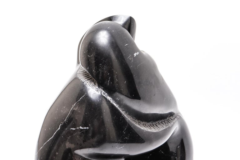 Mid-Century Modern Soapstone Sculpture of Embracing Couple For Sale 1