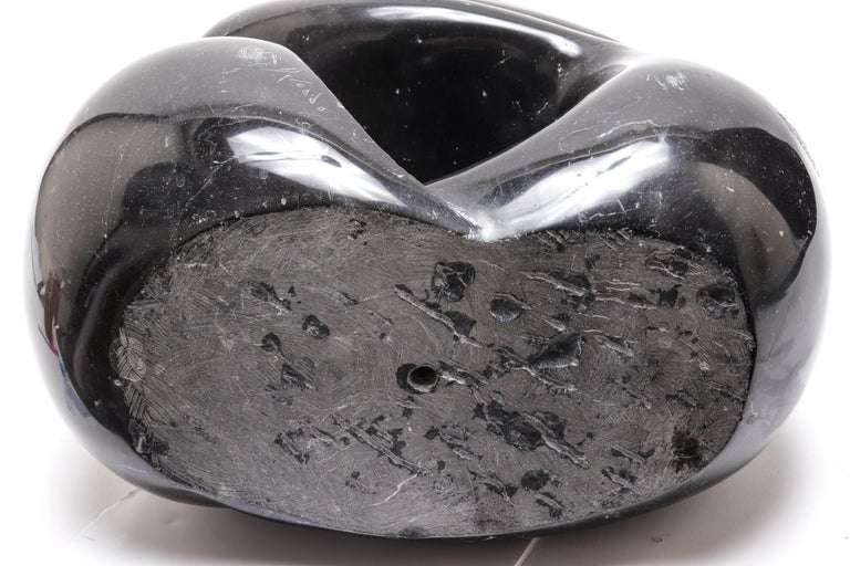 Mid-Century Modern Soapstone Sculpture of Embracing Couple For Sale 3