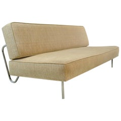 Mid-Century Modern Sofa Bed Ernst Ambuhler EA-616 Camel Fabric