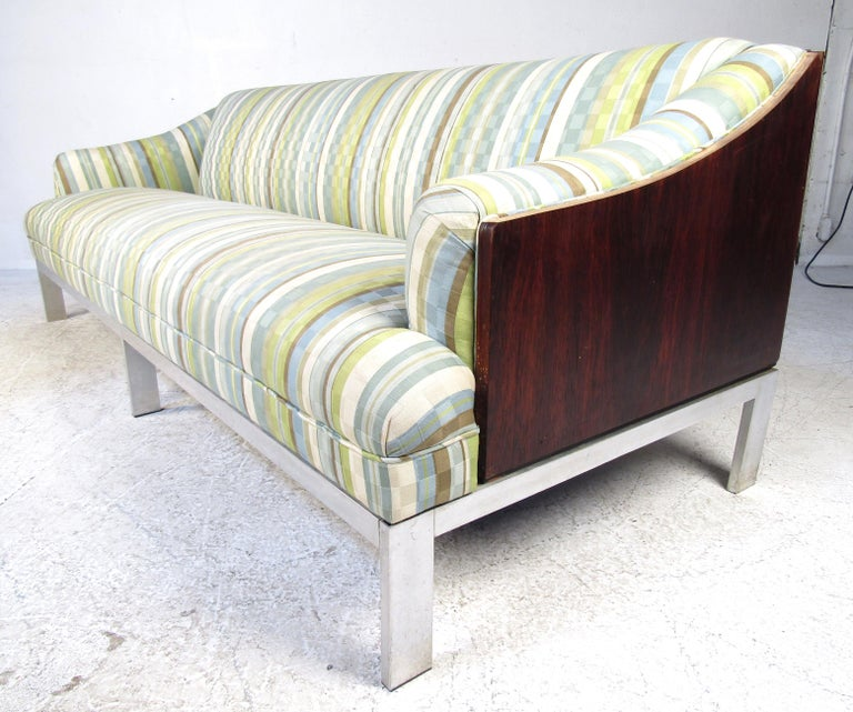 Fabric Mid-Century Modern Sofa For Sale