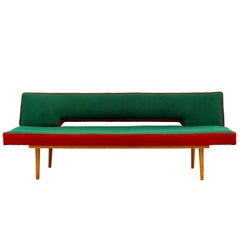 Mid Century Modern Sofa Daybed by Miroslav Navratil, Czechoslovakia, 1960s